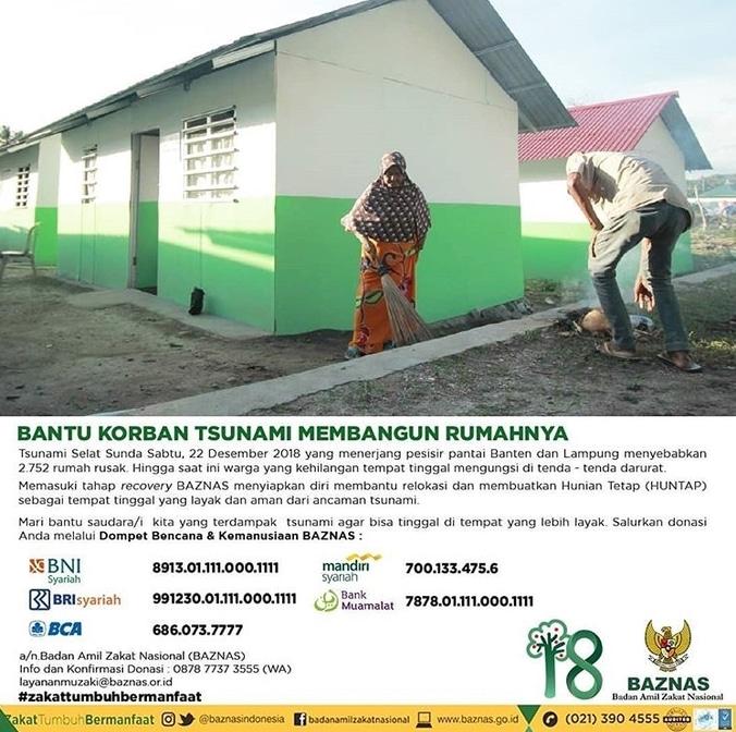 47111 medium baznas bantu korban tsunami membangun rumahnya