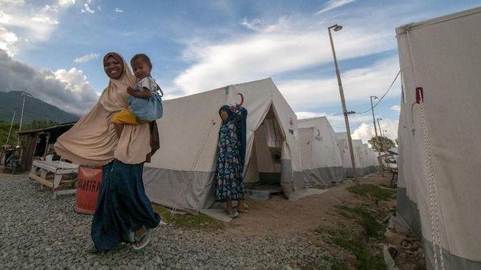 50912 medium korban gempa palu belum tempati huntara  pupr tanggung jawab pemda