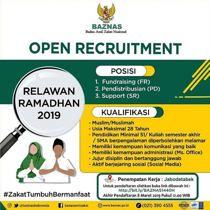 51030 medium rekrutmen relawan ramadhan baznas 1440 h