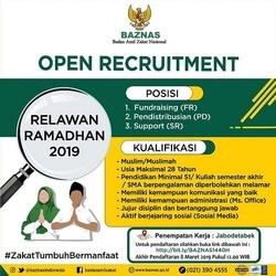 51030 small rekrutmen relawan ramadhan baznas 1440 h