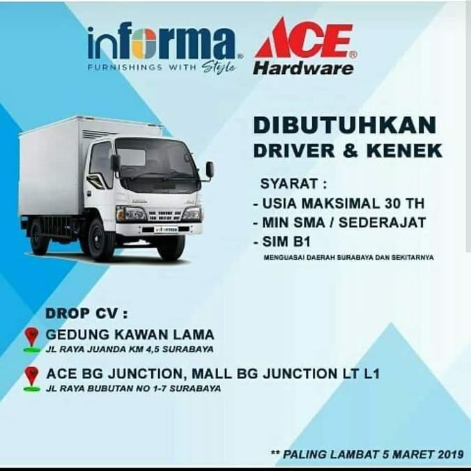 Info Lowongan Kerja Driver Surabaya