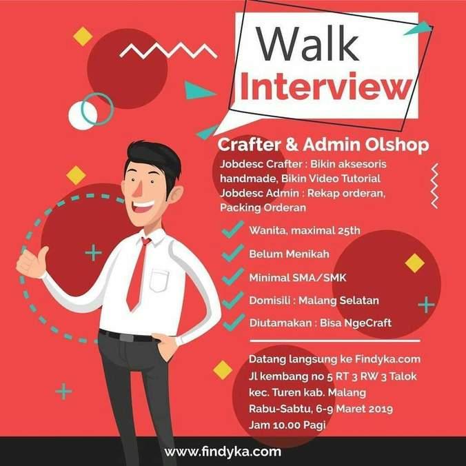 Lowongan Kerja Crafter Dan Admin Online Shop Atmago