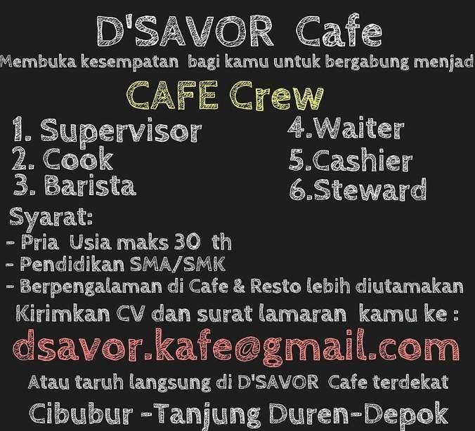 Lowongan Kerja Cafe Depok