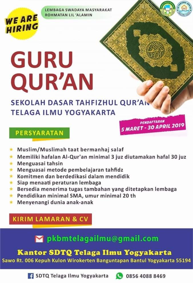 Lowongan Kerja Guru Sd Di Yogyakarta 2019 Seputaran Guru