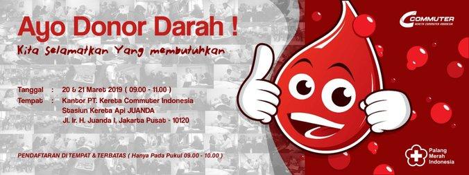 54565 medium pt kereta commuter indonesia gelar donor darah di stasiun juanda 20 21 maret 2019