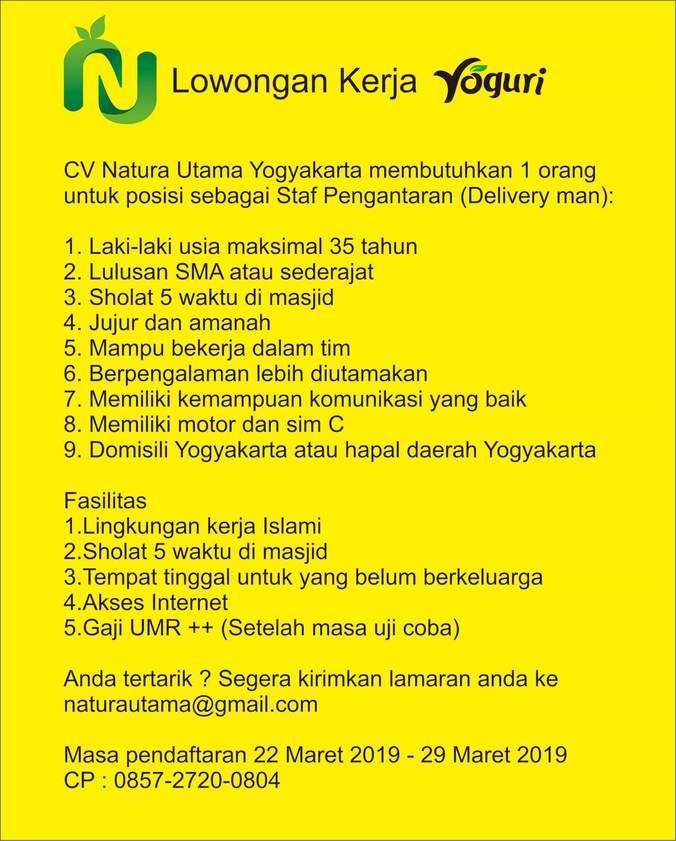 Lowongan Kerja Yogyakarta 2019 Lulusan Sma