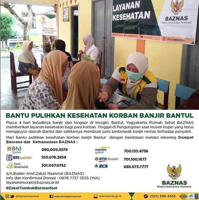 55213 medium baznas bantu pulihkan kesehatan korban banjir bantul