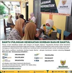 55213 small baznas bantu pulihkan kesehatan korban banjir bantul