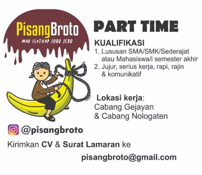 55748 medium lowongan kerja partime di pisang broto sleman