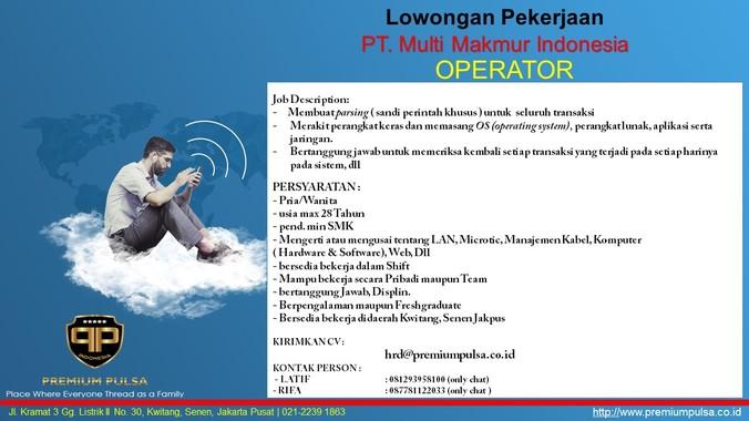 58137 medium operator