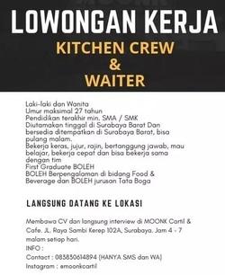 59472 small %28lowongan kerja%29 dibutuhkan waiter   kitchen crew resto di moonk cartil and cafe surabaya %28walk in interview  wawancara langsung%29