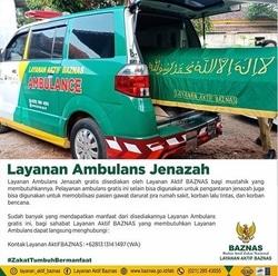 59578 small baznas sediakan layanan ambulans jenazah gratis bagi mustahik yang membutuhkan