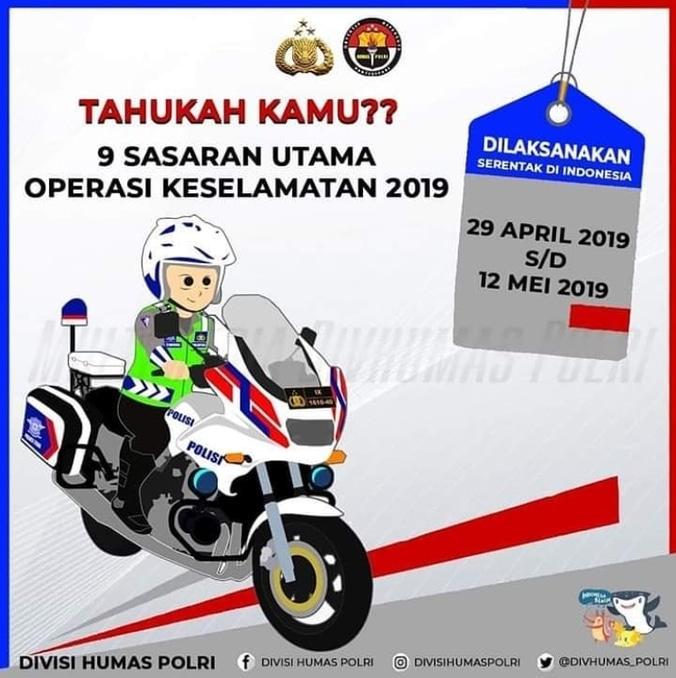 60045 medium razia operasi keselamatan lalu lintas serentak seluruh indonesia %2829 april   12 mei 2019%29