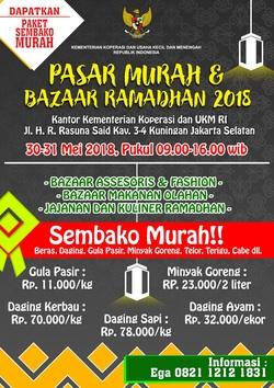 60102 small pasar murah dan bazaar ramadhan 2018 kemenkop dan ukm ri