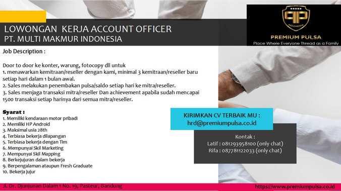 60464 medium account officer bandung