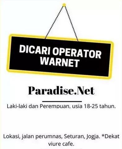 61259 medium %28lowongan kerja%29 dibutuhkan 3 orang operator warnet di paradise net condong catur yogyakarta %28walk in interview  wawancara langsung%29