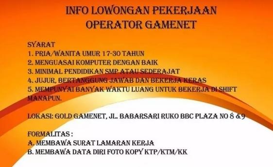 63240 medium %28lowongan kerja%29 dibutuhkan operator warnet di gold gamenet yogyakarta %28walk in interview  wawancara langsung%29