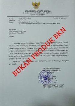 63504 small hati hati surat palsu mengatasnamakan sekretaris utama bkn