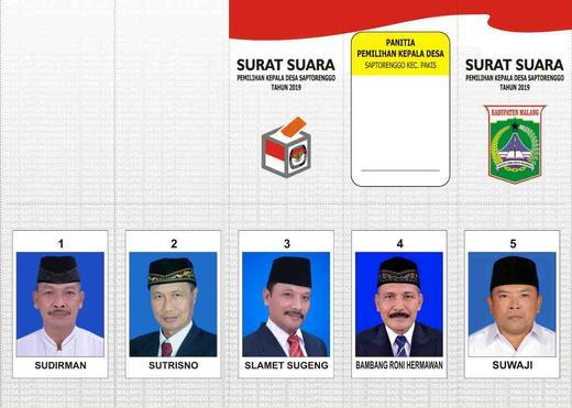 Pemilihan Kepala Desa Periode 2019 2024 Desa Saptorenggo
