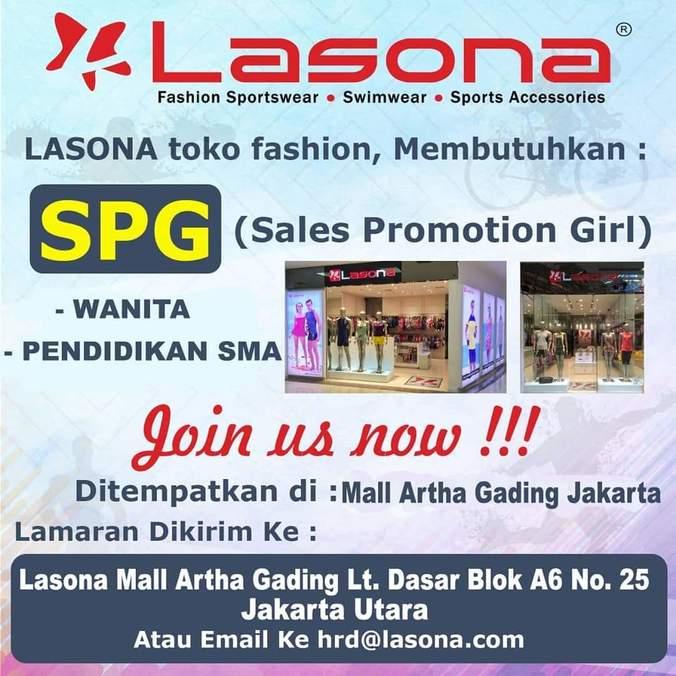 Lowongan Kerja Sales Promotion Girl Lasona 𝙈𝙊𝙃𝘼𝙈𝙈𝘼𝘿 𝙅𝘼𝙀𝙉𝙐𝘿𝙄𝙉 Di Jakarta Utara 17 Jun 2019 Loker Atmago Warga Bantu Warga