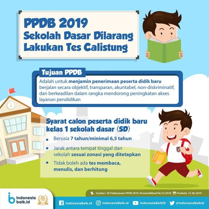 64754 medium ppdb 2019 sekolah dasar dilarang lakukan tes calistung