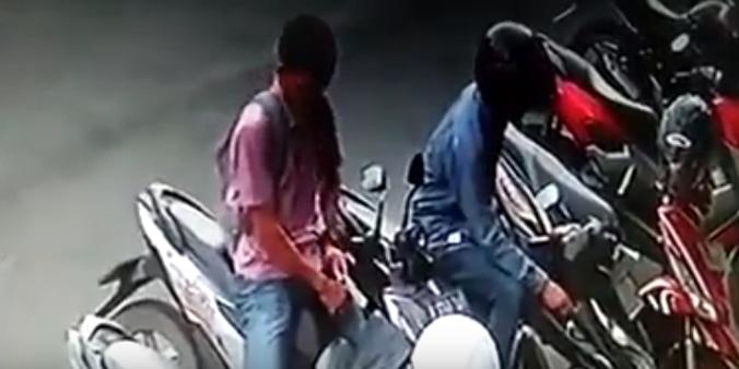 64840 medium aksi gagal pencurian motor di parkiran bank cikarang pusat