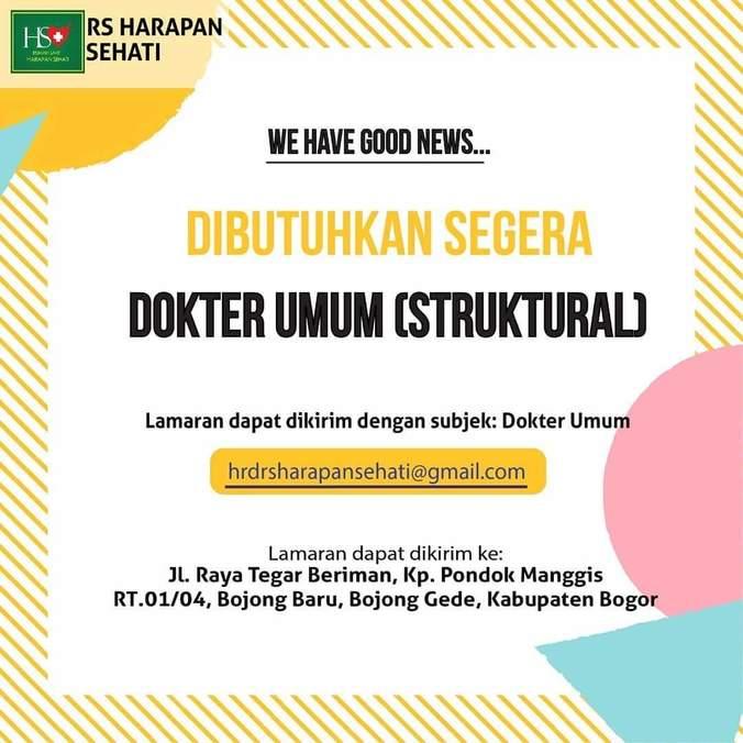 Lowongan Kerja Dokter Umum 𝙈𝙊𝙃𝘼𝙈𝙈𝘼𝘿 𝙅𝘼𝙀𝙉𝙐𝘿𝙄𝙉 Di Bogor Kabupaten 10 Jul 2019 Loker Atmago Warga Bantu Warga