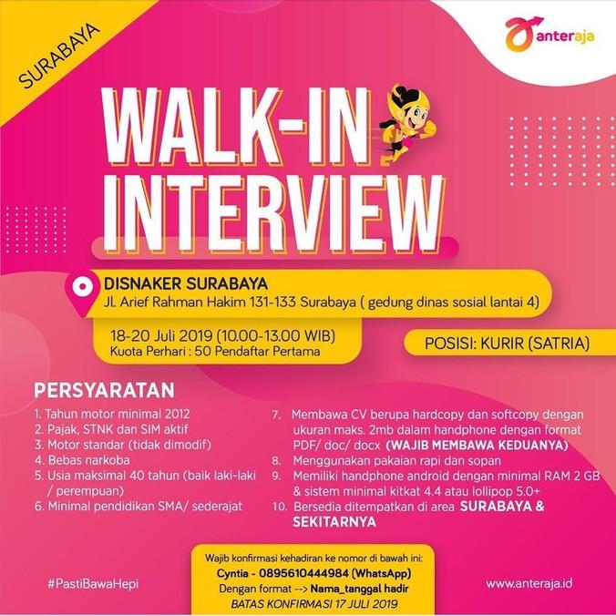 Info Lowongan Kerja Terbaru Surabaya Lowongan Kerja