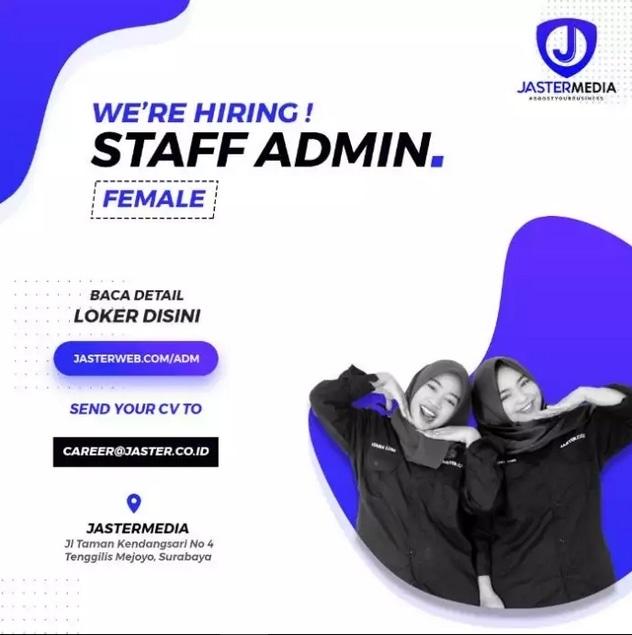 67253 medium %28lowongan kerja%29 dibutuhkan staff admin di jastermedia surabaya