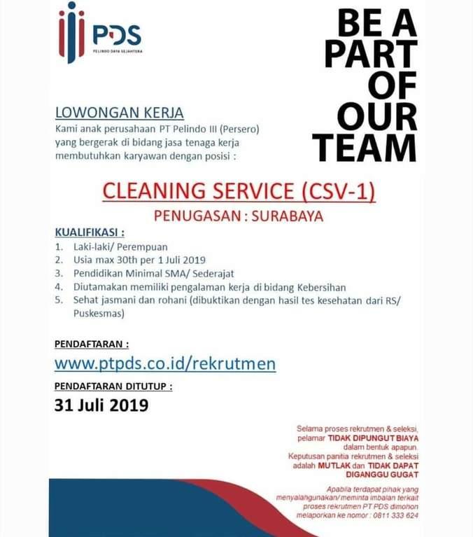 Lowongan Kerja Cleaning Service Н™ˆð™Šð™ƒð˜¼ð™ˆð™ˆð˜¼ð˜¿ Н™…𝘼𝙀𝙉𝙐𝘿𝙄𝙉 Di Surabaya 28 Jul 2019 Loker Atmago Warga Bantu Warga