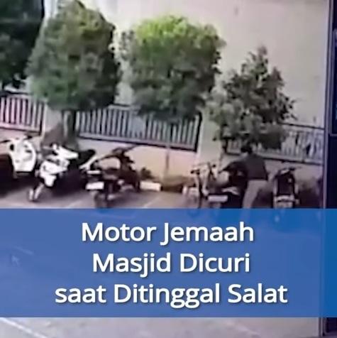 68456 medium ditinggal salat magrib  motor jemaah masjid al ikhwan digondol maling