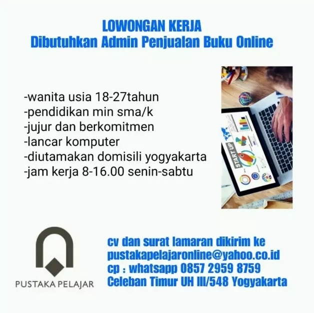 68706 medium %28lowongan kerja%29 dibutuhkan admin penjualan buku online di pustaka pelajar yogyakarta %28walk in interview  wawancara langsung%29