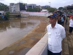 696 small normalisasi ciliwung rampung  9 wilayah bebas banjir