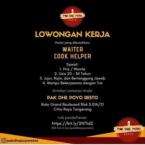 Info Loker Restoran Tangerang