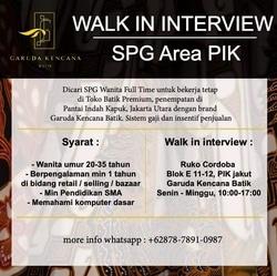 70705 small %28lowongan kerja%29 dibutuhkan spg toko batik premium di garuda kencana batik pik %28walk in interview  wawancara langsung%29