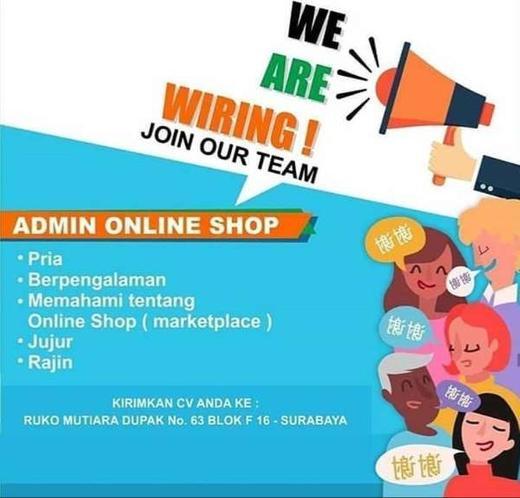 Lowongan Kerja Admin Online Shop Surabaya Indah Pratiwi Di Surabaya 30 Dec 2019 Loker Atmago Warga Bantu Warga