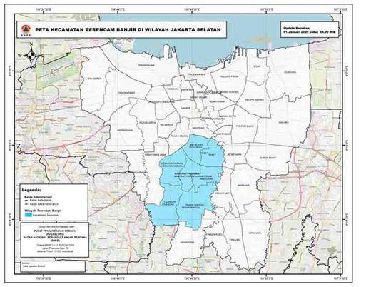 Peta Sebaran Rendaman Banjir Jabodetabek - Siswoyo R di ...
