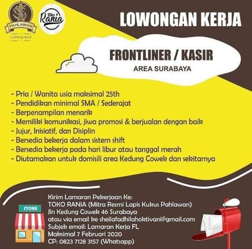 Lowongan Kerja Frontliner Kasir Di Toko Rania Surabaya Gibran