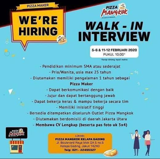 Lowongan Kerja Di Pizza Mangkok Walk In Interview Indah Pratiwi Di Jakarta Utara 4 Feb 2020 Loker Atmago Warga Bantu Warga