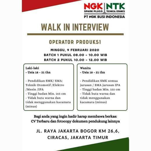 Operator Produksi Pt Ngk Busi Indonesia 𝙈𝙊𝙃𝘼𝙈𝙈𝘼𝘿