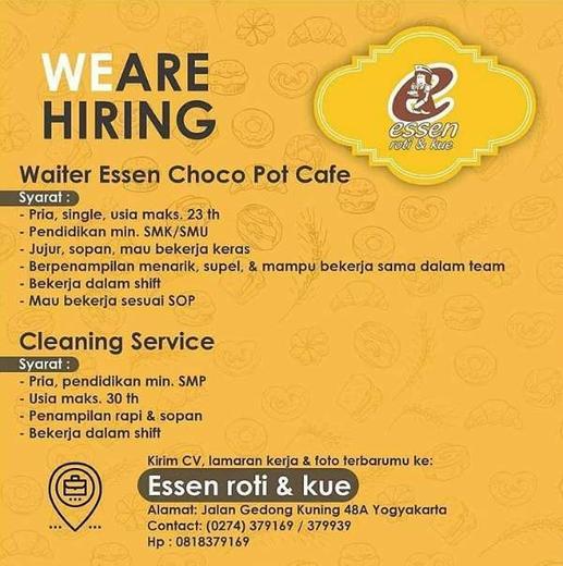Lowongan Kerja Waiter dan Cleaning Service Cafe Jogja - Gibran Waluyo di Yogyakarta, 11 Feb 2020 ...