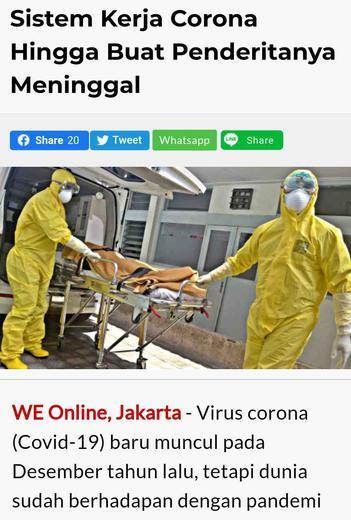 Sistem Kerja Virus Corona Hingga Membuat Penderitanya ...
