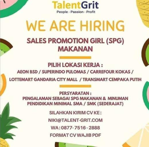 Lowongan Kerja Spg Makanan Gibran Waluyo Di Jakarta Selatan 23