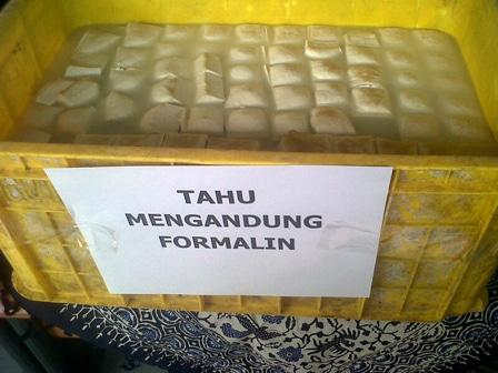 908 medium tahu berformalin ditemukan di beberapa pasar di jakarta