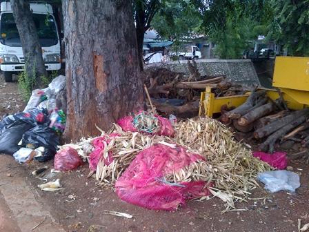 920 medium jl raya bogor banyak tumpukan sampah