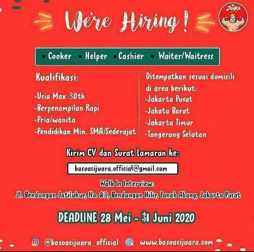Lowongan Kerja Loker Terbaru Di Tanah Abang Jakarta Pusat Atmago