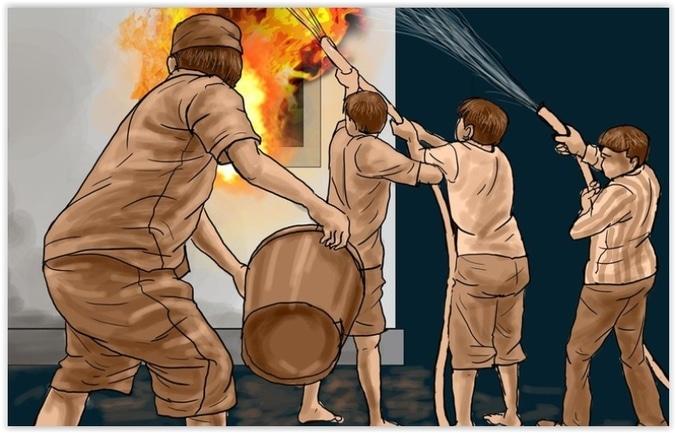 9434 medium kebakaran terjadi di toko mebel di pasar kranji baru bekasi