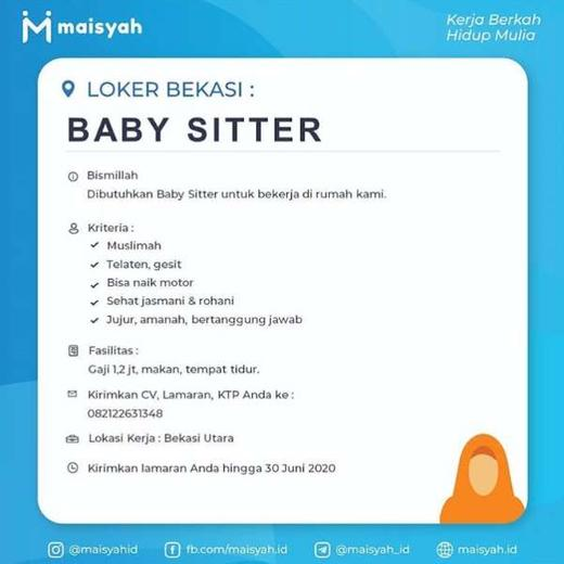 Lowongan Kerja Babysitter Pengasuh Anak Bekasi Atmago