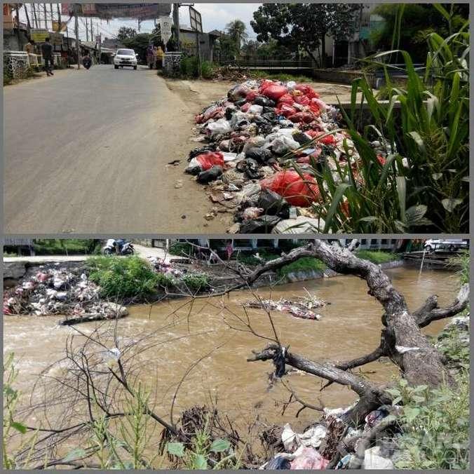 944 medium tumpukan sampah dekat pintu air pasar citayam semakin banyak