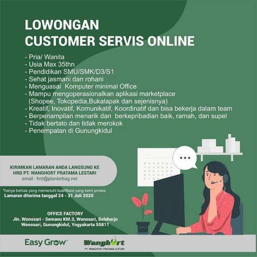 Lowongan Customer Service Cs Online Gunungkidul Indah Pratiwi Di Gunung Kidul 24 Jul 2020 Loker Atmago Warga Bantu Warga
